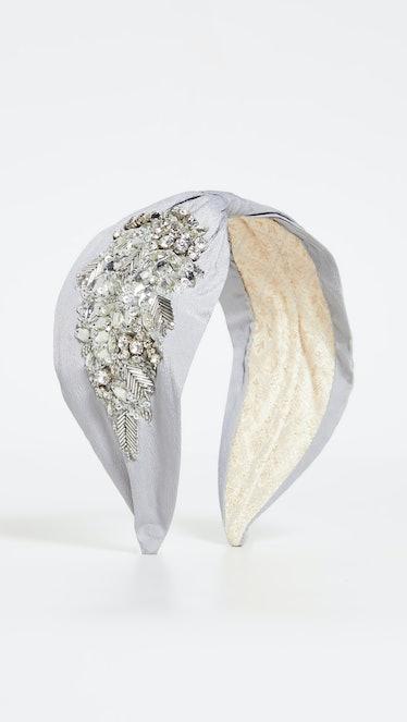 Grey Embellished Headband