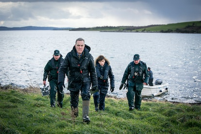 Tom Brannick played by James Nesbitt  and Niamh McGovern played by CHARLENE McKENNA in BBC's Bloodlands