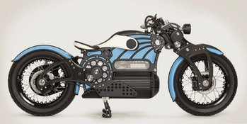 The Curtiss One is America's first electric cruising motorcycle.