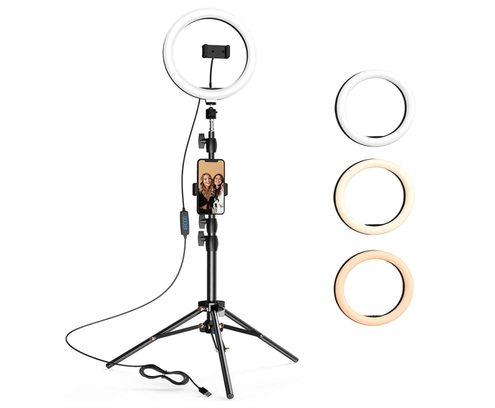 LETSCOM Selfie Ring Light with Tripod