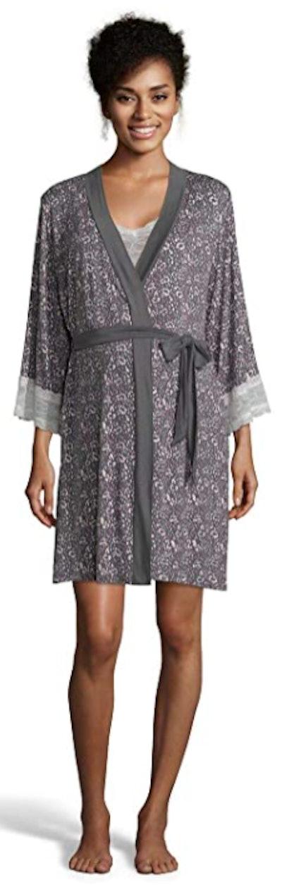 Lamaze Maternity Matching Belted Robe Pajama Set