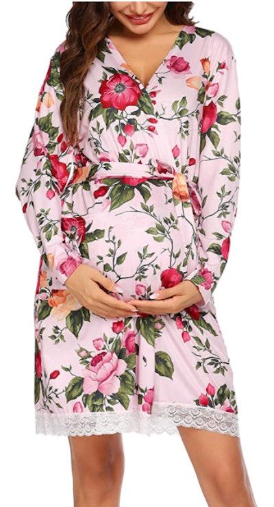 Ekouaer Maternity Robe
