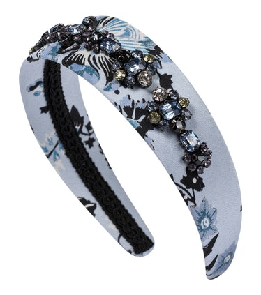 Embellished Floral Silk Headband
