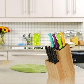 Mantello Wood Universal Knife Block