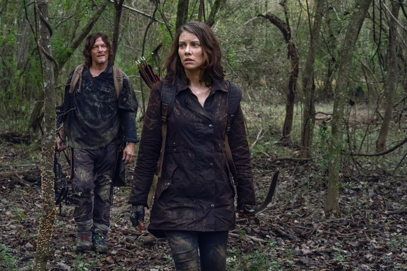 Daryl and Maggie defend themselves against the Reapers on 'The Walking Dead.' Photo via Skybound Entertainment