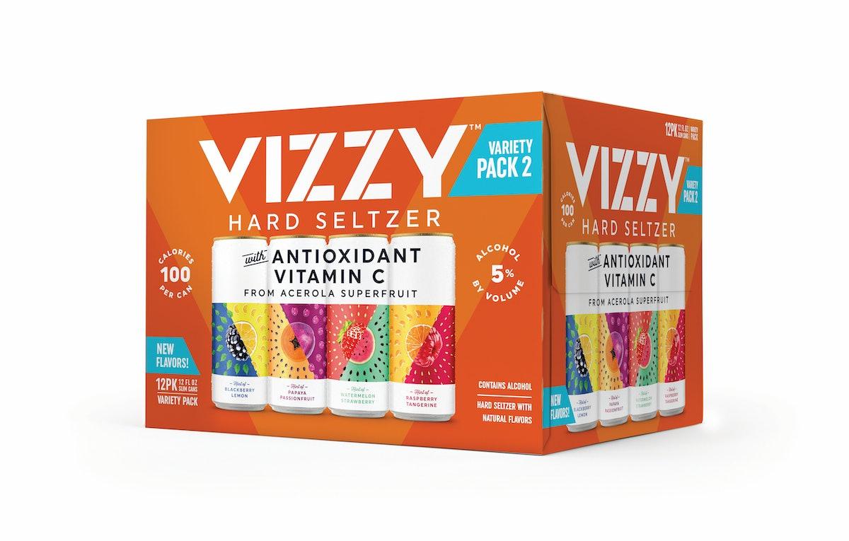 Vizzy's new Hard Seltzer for 2021 includes unique fruity combos.