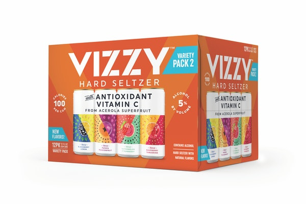 Vizzy's new Hard Seltzer for 2021 includes unique fruity combos.