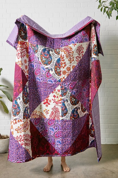 Anika Patchwork Paisley Quilt