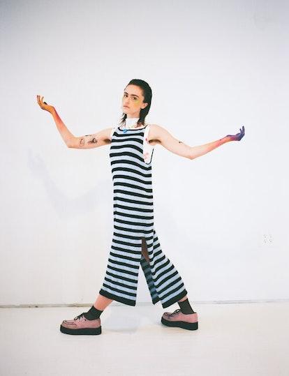 Ella Emhoff – Striped Knit Dress