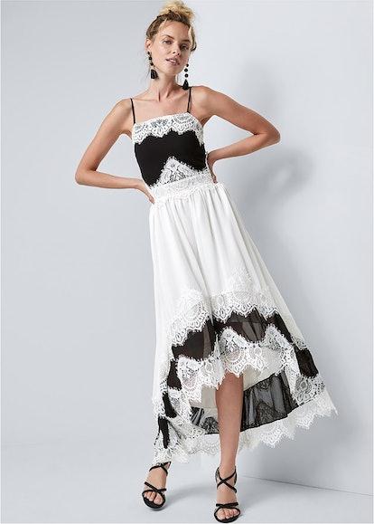 Venus High Low Lace Detail Dress