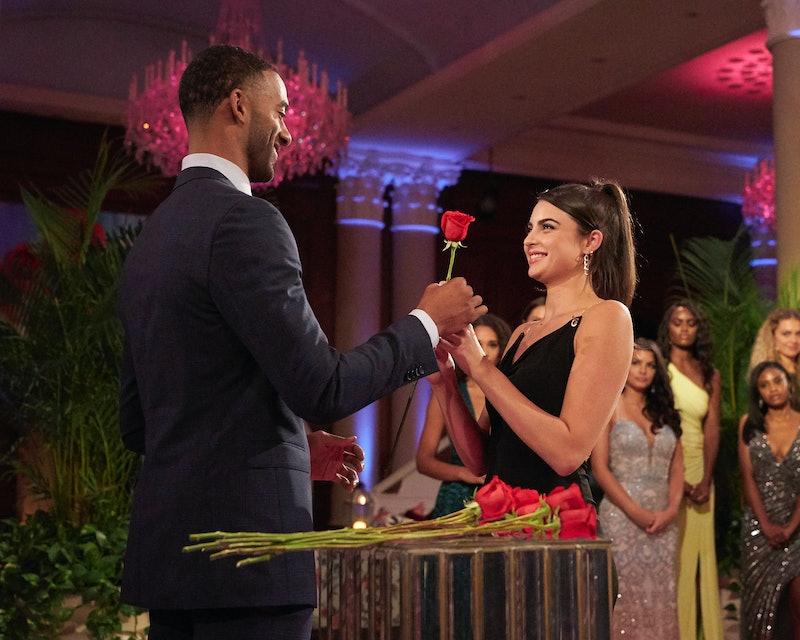 Matt James gives Rachael Kirkconnell a rose on 'The Bachelor' via ABC Press Site