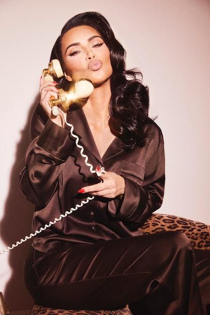 Kim Kardashian stars in the campaign for Skims' silk launch.