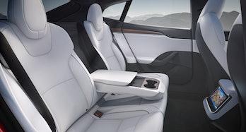 The Model S interior.