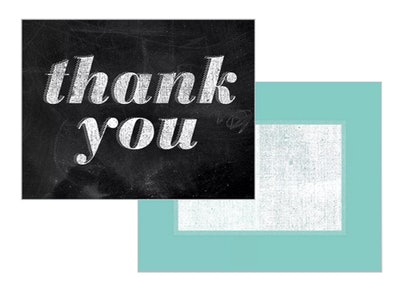 Green Inspired 10ct Chalk Talk Thank You Cards