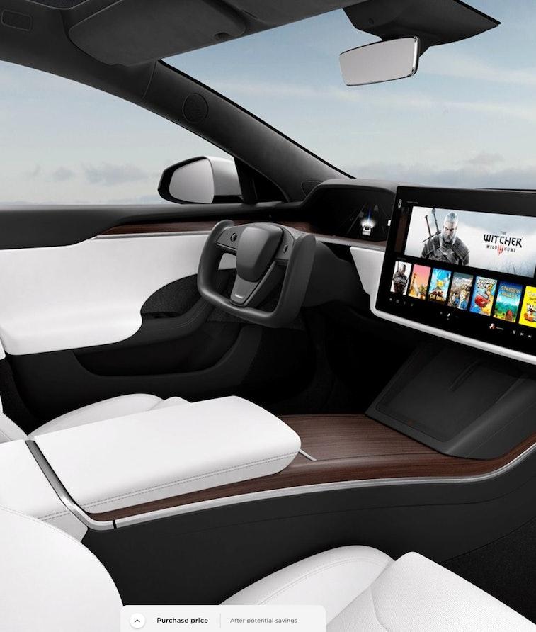 The new Tesla Model S interior