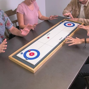 GoSports Shuffleboard and Curling 2-in-1 Board Game