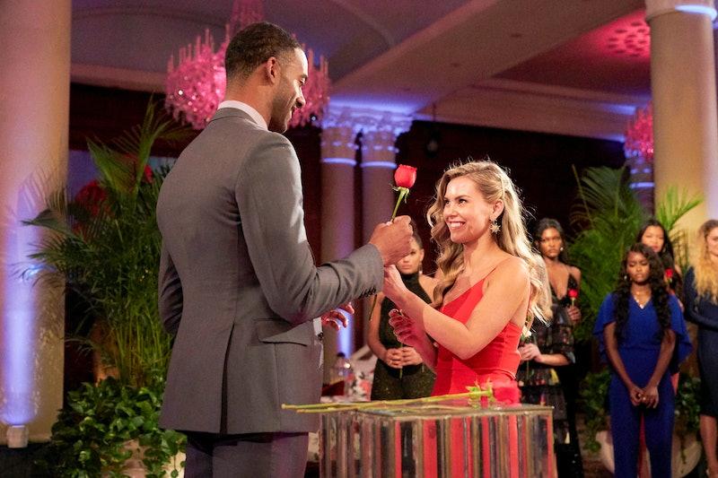 Anna Redman receives a rose from Matt James on 'The Bachelor' via ABC Press Site