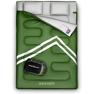 SereneLife Double Sleeping Bag With Two Pillows