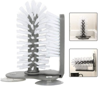 PAWACA Glass Washer with Double Sided Bristle Brush