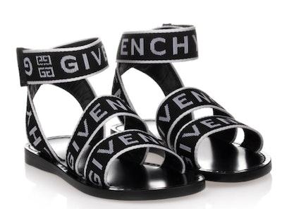 Black & White Logo Sandals