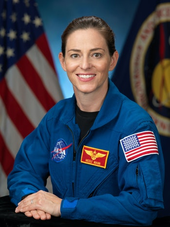 Nicole Mann portrait image in NASA uniform