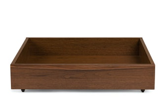Lenia Walnut Underbed Storage Drawer