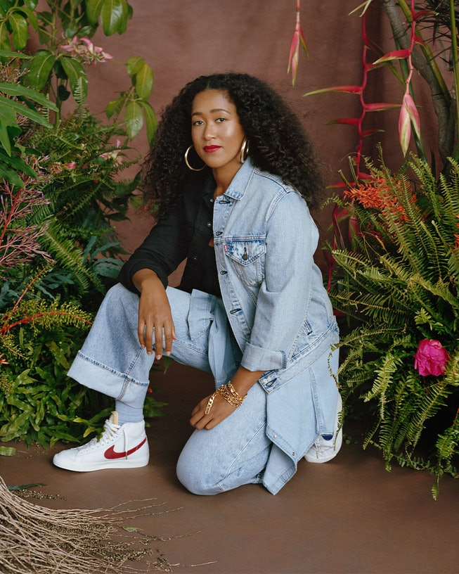 Naomi Osaka for the Levi's Beauty of Becoming campaign.