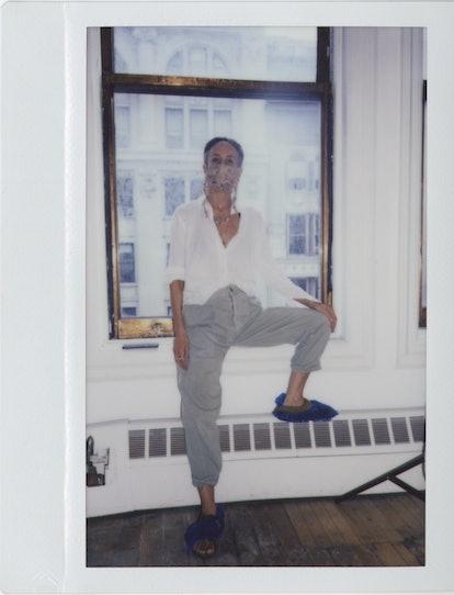 Mara Hoffman in the studio.