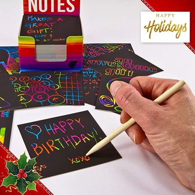 Purple Ladybug Rainbow Scratch Off Mini Art Notes