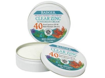 Badger SPF 40 Clear Zinc Sport Sunscreen