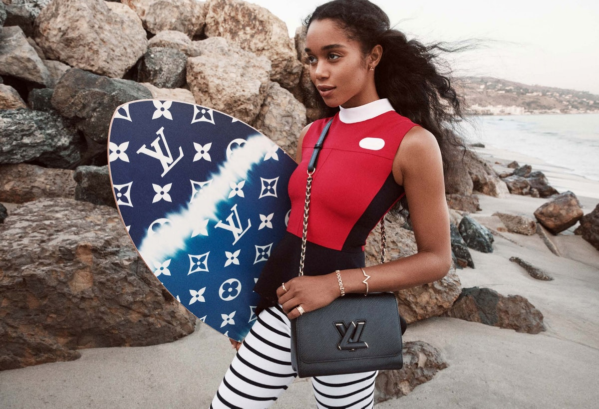 Laura Harrier stars in Louis Vuitton's Twist campaign for Spring/Summer 2021