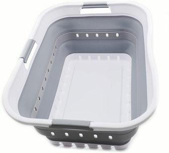 SAMMART Collapsible Plastic Laundry Basket