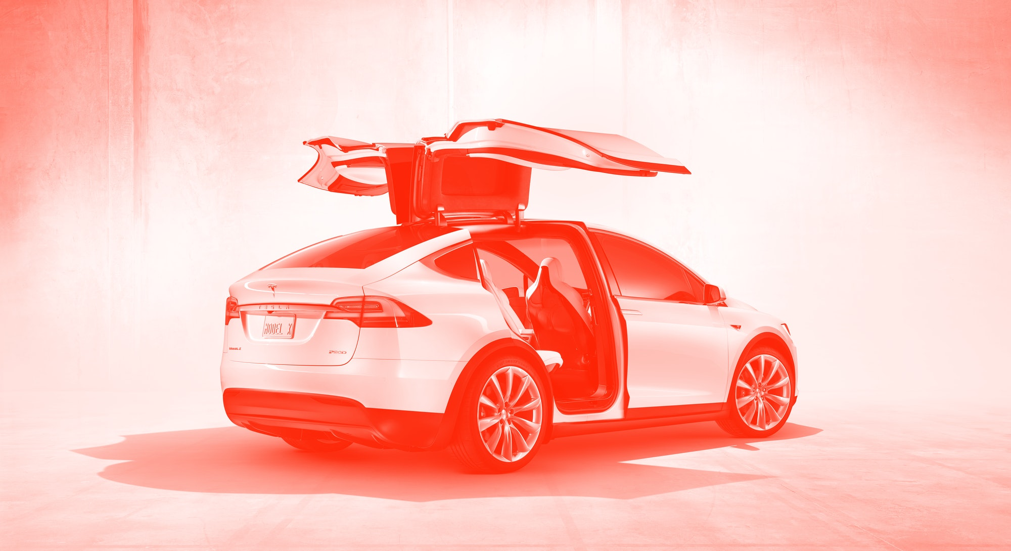 A Tesla Model X which was recently refreshed.