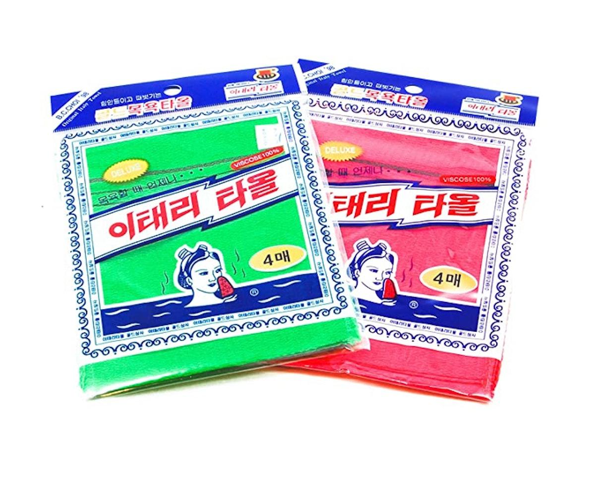 Exfoliating Towel Asian Exfoliating Bath Washcloth (8- Pack)