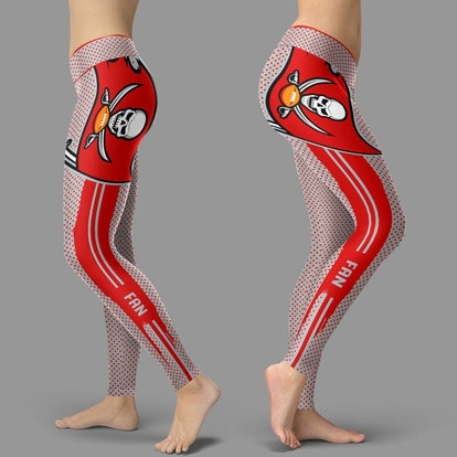 SoulSpectrumStore Charming Lovely Little Dots Along Body Tampa Bay Buccaneers Leggings