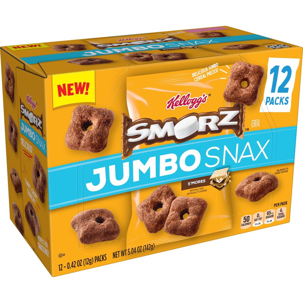Kellogg's SMORZ Cereal Jumbo taste just like s'mores.