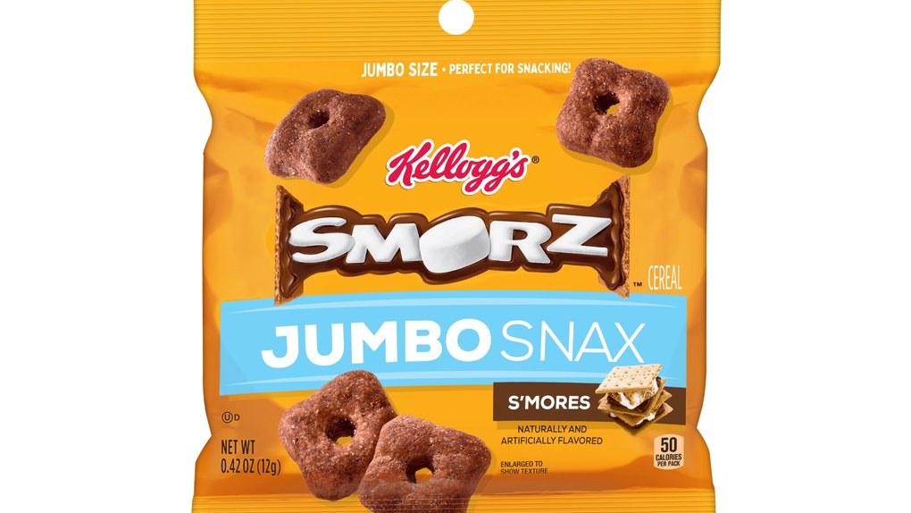 Kellogg's SMORZ Cereal Jumbo Snax taste just like s'mores.