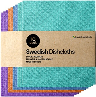 Swedish Dishcloth Cellulose Sponge Cloths (10-Pack)