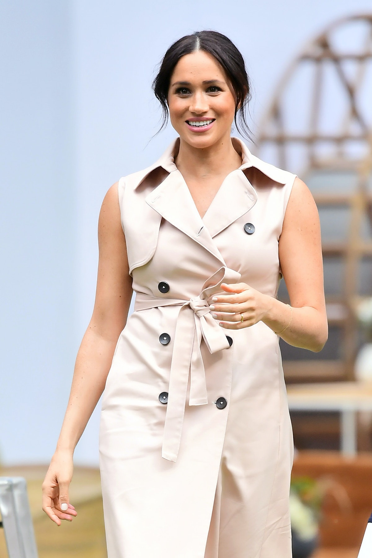 Meghan, Duchess of Sussex visits the British High Commissioner's residence to attend an afternoon re...