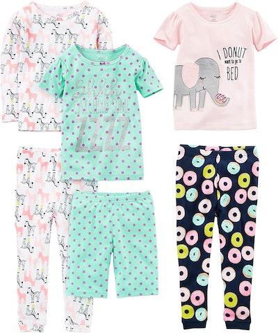 Simple Joys by Carter's Snug Fit Cotton Pajama Set (6 Pieces)