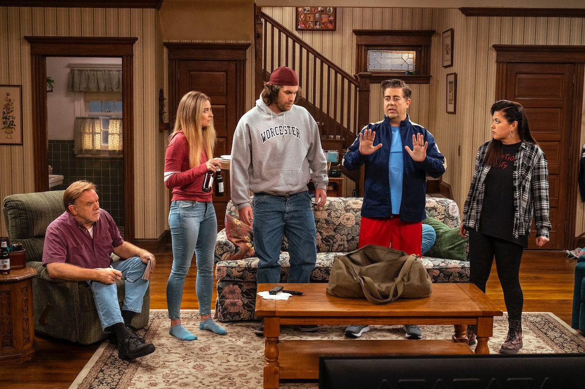 Pete McRoberts, Annie Murphy, Alex Bonifer, Eric Peterson, and Mary Hollis Inboden in Kevin Can F**k Himself