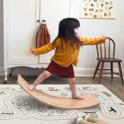 little dove Wooden Balance Board with Playmat