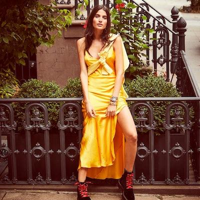 Sunflower Slip Dress