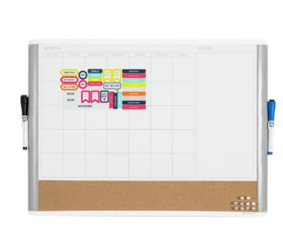3-in-1 Dry Erase Calendar Whiteboard
