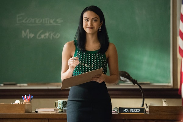 Camila Mendes revealed why Veronica Lodge switched from a middle part to a side part on 'Riverdale' Season 5.