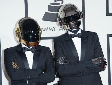Daft Punk on the red carpet.