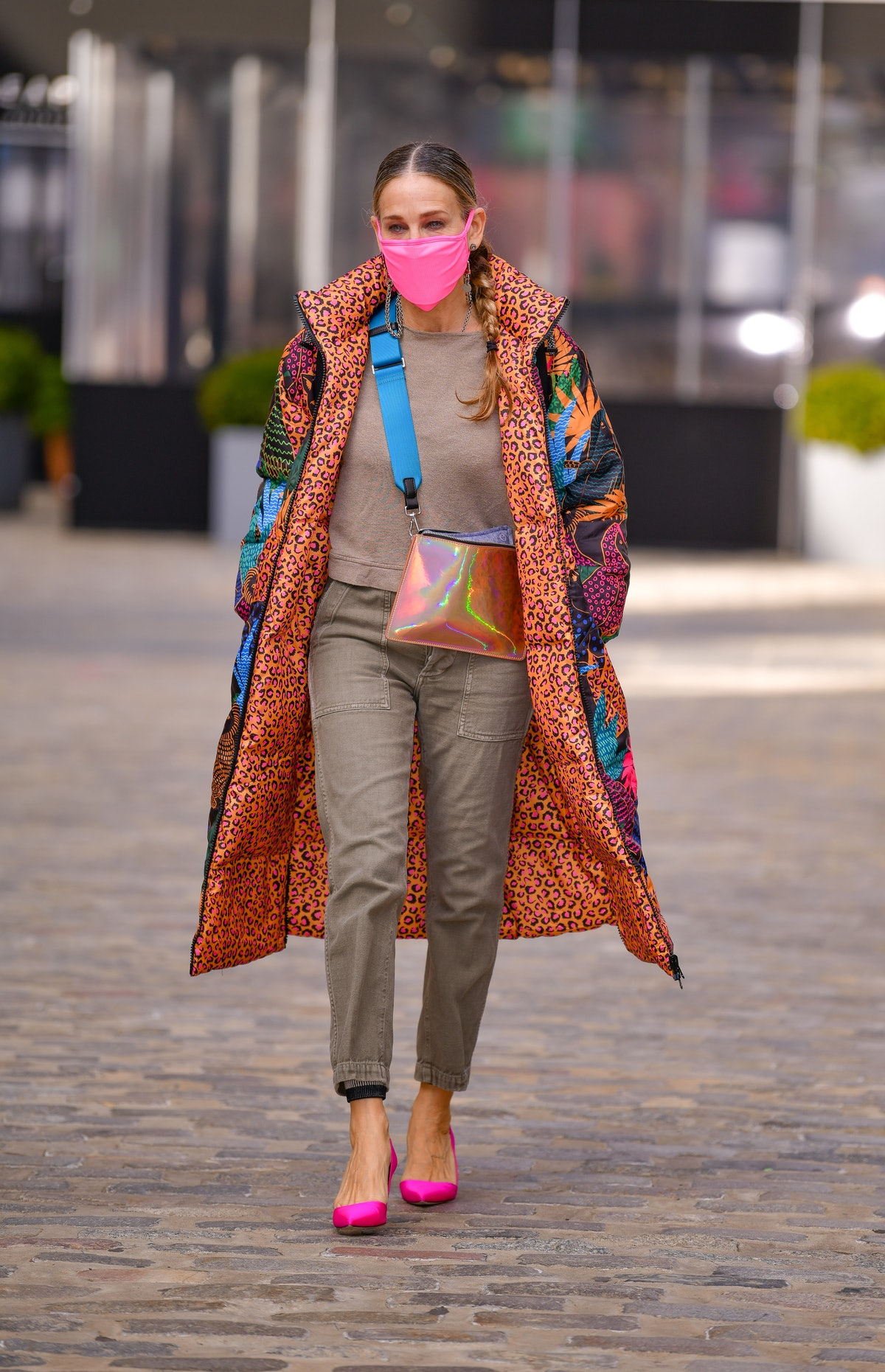 Sarah Jessica Parker leaves her store SJP by Sarah Jessica Parker at the Seaport on November 19, 202...
