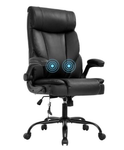 Ergonomic Massage Desk Chair with Lumbar Support