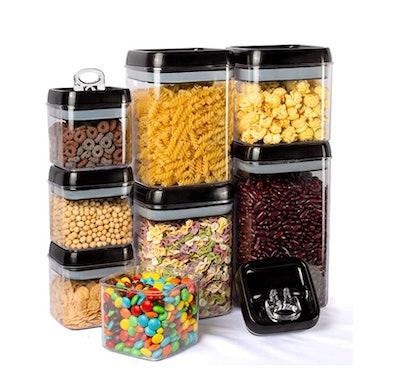 Kitsure 8 Piece Airtight Food Storage Container Set