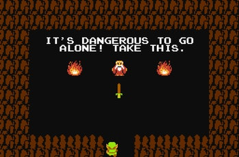 the legend of zelda nes dangerous to go alone